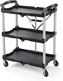 Olympia Tools 85-188 Pack-N-Roll Folding Collapsible Service Cart, Black, 50 Lb. Load..