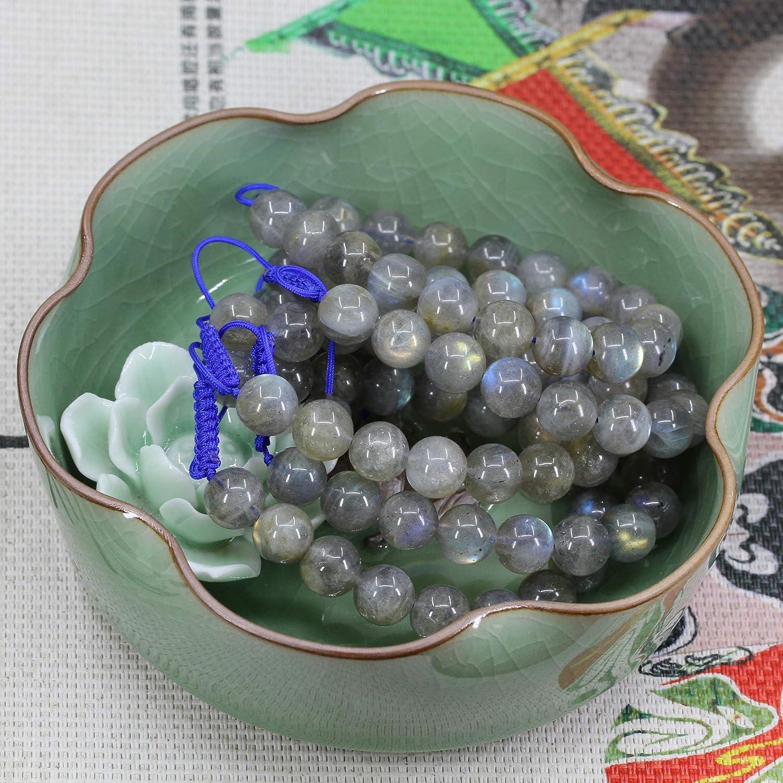 Handmade Gemstone 10mm Round Beads Adjustable Braided Macrame Tassels Chakra Reiki Bracelets 7-9 inch Unisex