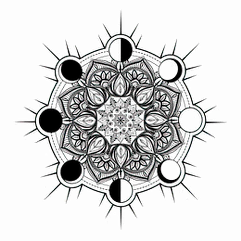 Quote 6 Popular popular Sheets Temporary Tattoos For Men Adults Classic Mandala Circular