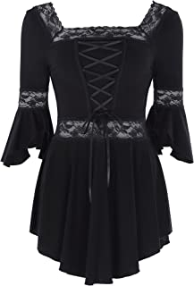 Women's Victorian Gothic Renaissance Irregular Stretchy Cotton Tops
