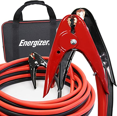 Energizer Jumper Cables, 20 Feet, 2 Gauge, 800A, Heavy Duty Booster Jump Start Cable - 20 Ft Allows You to Boost a De...