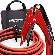 Energizer Jumper Cables, 25 Feet, 1 Gauge, 800A, Heavy Duty Booster Jump Start Cable - 25 Ft Allows You to Boost a Dead Battery from Behind a Vehicle