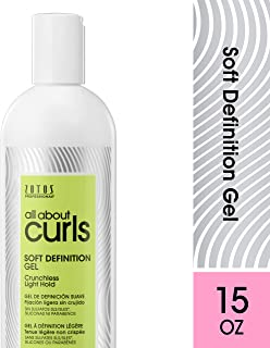 All About Curls Soft Definition Gel, Free of SLS SLES Sulfates, Silicones and Parabens, Color-Safe, 15-Ounce