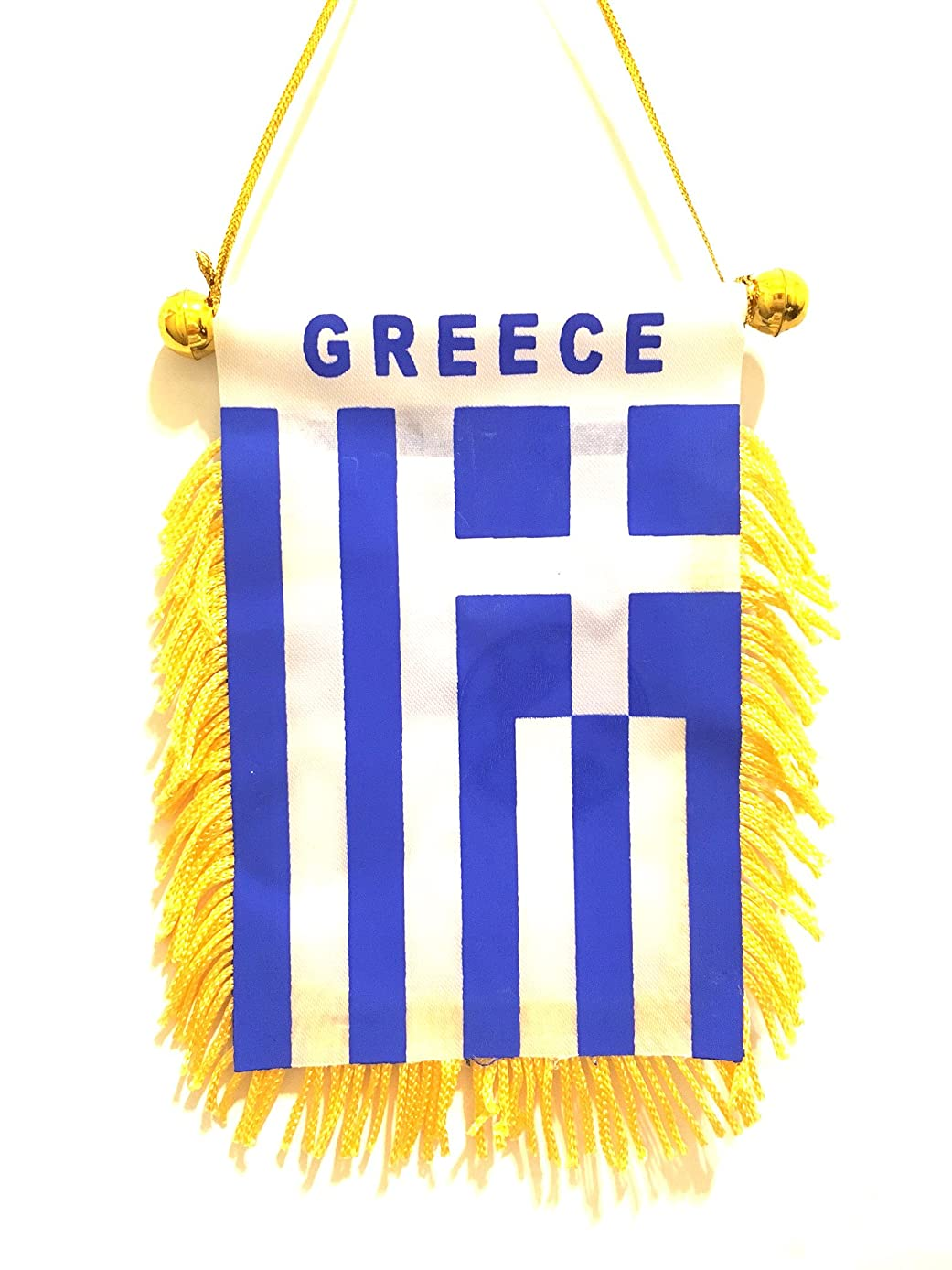 Greece Mini Flag Automobile Rearview Mirror, Window Greece Flag auto or Home