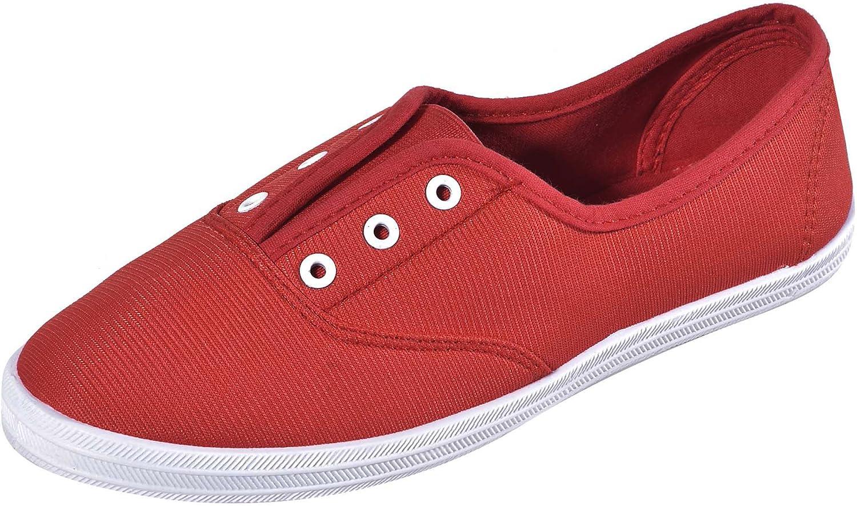 Cambridge Select Women's Closed Round Toe Stretch Elastic No Lace Slip-On Flat Plimsoll Fashion Sneaker