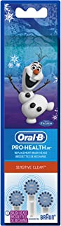 Oral-B Pro-Health Jr. Disney Frozen Kids Electric Toothbrush Replacement Brush Heads Refill, 3 Count
