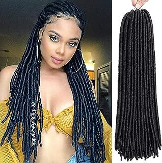 6 Packs Faux Locs Crochet Hair Dreadlocs Stright Goddess locs Synthetic Faux Locs Hair Extensions Long Soft Dreadlocks Crochet Braiding Hair (18