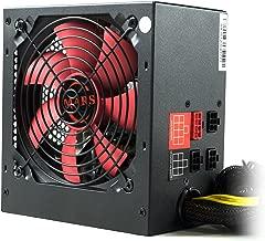 Mars Gaming MPII750 - Fuente de alimentación para PC (750 W, 12 V, PFC activo, ATX, modular, ventilador 12 cm, sistema anti-vibración, eficiencia + 85%), color rojo y negro