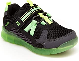 Stride Rite boys Made2play Levee Running Shoe, Black/Neon, 8 Wide Toddler US