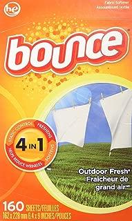 Bounce Hojas con suavizante para secadora, 160 Piezas