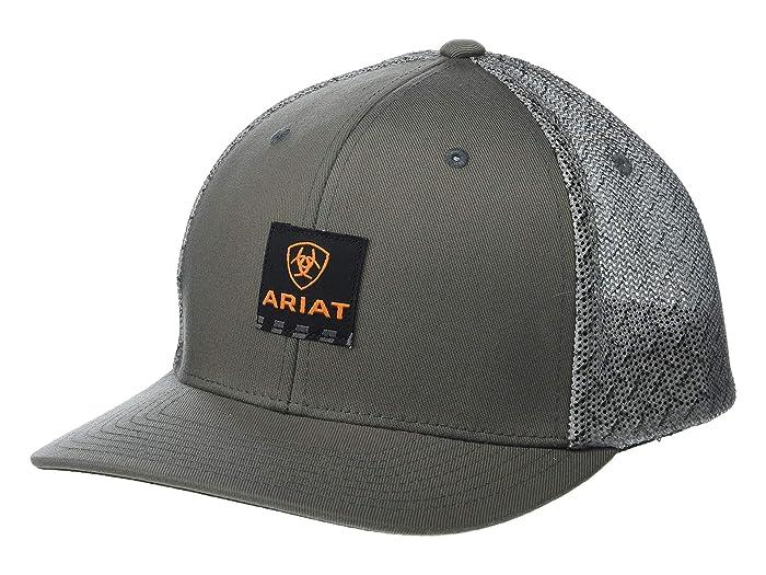 Ariat   Rebar Patch Logo Flexfit Cap (Grey) Caps