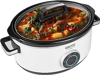 Camry CR6410 Cocotte de cuisson lente, 6,5 l, minuteur numérique et 3 réglages de température, cocotte lente, couvercle en...