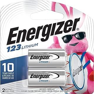 Energizer 123 3V Lithium Battery, 2 Count