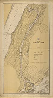 Map - Harlem River, 1929 Nautical NOAA Chart - Vintage Wall Art - 13in x 24in
