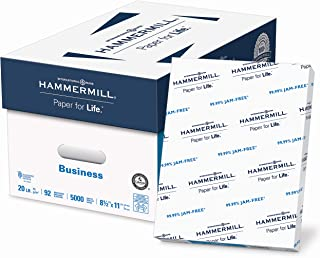 Hammermill Printer Paper, 20 lb Copy Paper, 8.5 x 11-10 Ream (5,000 Sheets) - 92 Bright, Made in the USA, 105740C