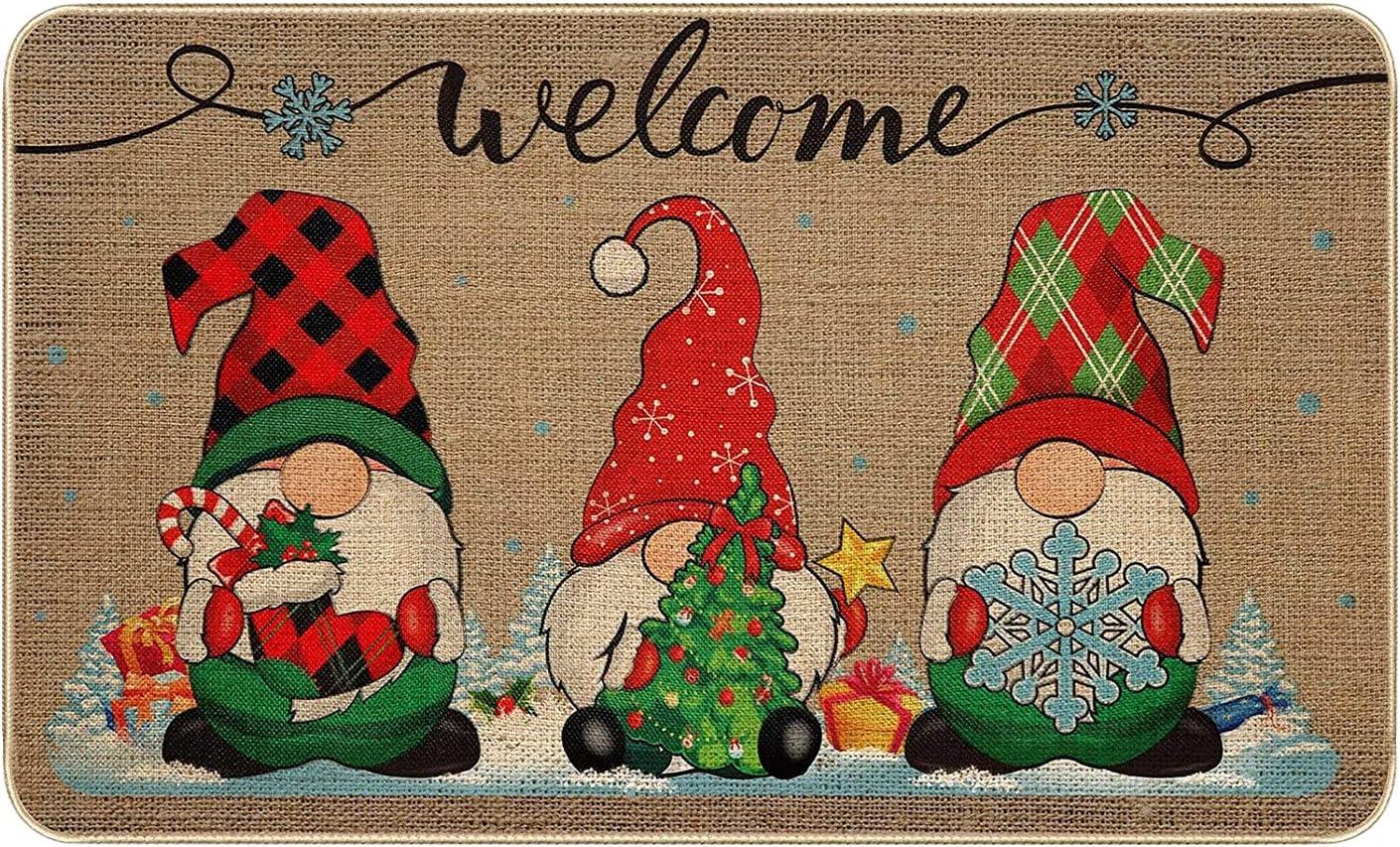 Spring new work one after Max 82% OFF another Xijirk Christmas Doormat Floor Mat Door Halloween Gnome Funn
