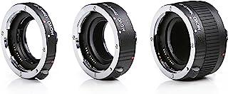 Movo mt-c683piezas AF cromado tubo de extensión macro Set para Canon EOS DSLR cámara con 12mm 20mm 36mm) tubos