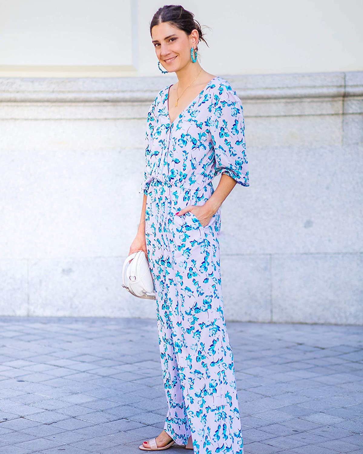 The Drop Women's Floral OFFicial mail order Print Over item handling by Crossover Jumpsuit @balamoda