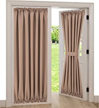 Spring Garden Home Back Door Curtain Panel Light Block Thick Sidelight French Door Window Drape Blackout Panels, 1 Piece, 54W by 72L Inches, Taupe