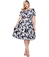 Unique Vintage Plus Size Bow Dress