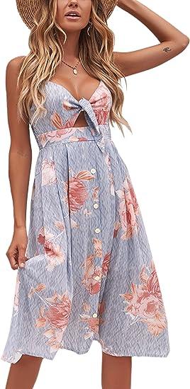 medium long summer dress with flowers