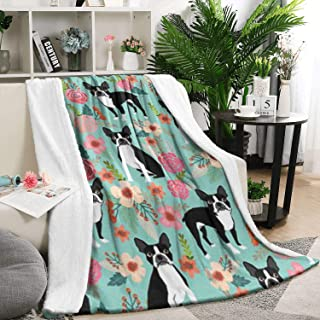 Unicorns Farting Flannel Blanket for Couch or Bed Warm Ultra-Soft Lightweight Sweet Vintage Florals Fowers Dog Throw Blanket