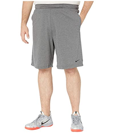 Nike Big Tall Training Shorts (Charcoal Heather/Black) Men