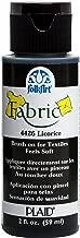 FolkArt 4426 Fabric Brush On Acrylic Paint, 2 oz, Licorice