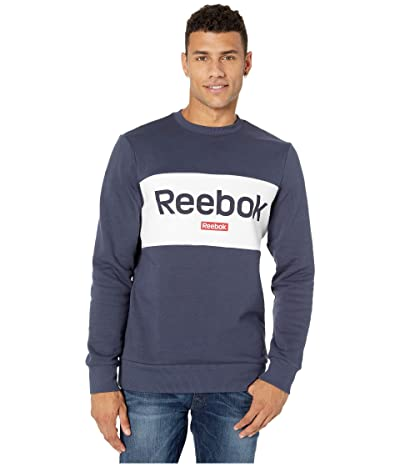 Reebok Training Essentials Big Logo Crew (Heritage Navy) Men