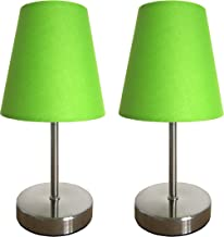 Simple Designs Home LT2013-GRN-2PK Mini lamp 2 pk, Green
