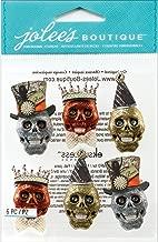 Jolee's Boutique Dimensional Stickers, Glitter Skulls