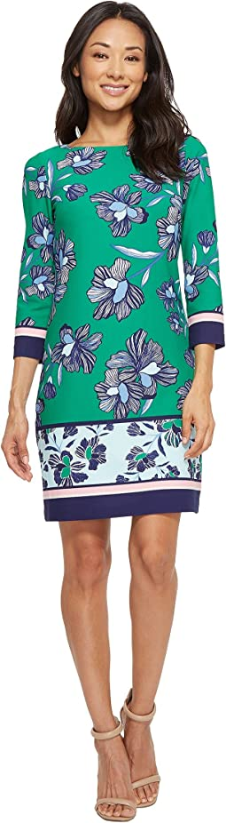 Vince Camuto Printed 3/4 Sleeve T Body Dress