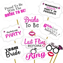 Party Propz Bride to Be Photo Booth Props for Wedding, Bachelorette Props (10 Pieces)