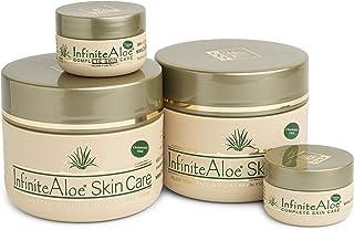 Infinite Aloe Skin Care Cream - Fragrance Free - (2) 8oz + (2) 0.5oz Travel Jars
