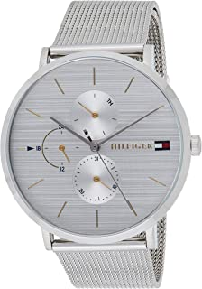 Tommy Hilfiger Womens Multi Dial Quartz Watch Jenna with Stainless Steel Mesh Band