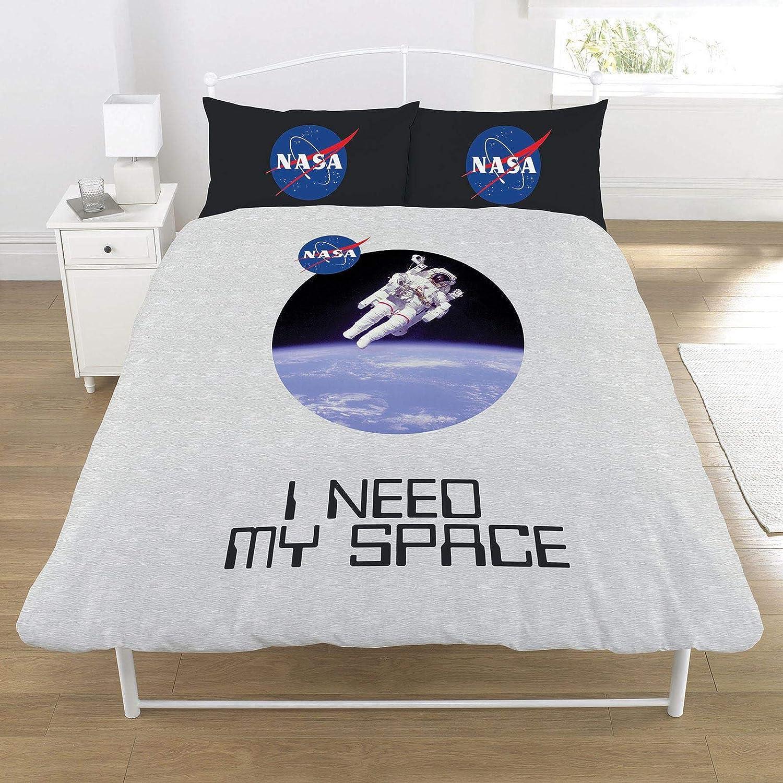 NASA UK Double US Full Unfilled Duvet Cover Set, Multi