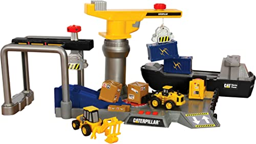 60% de descuento Toy State Caterpillar Construction Playset  Shipping Port by by by Toystate  80% de descuento