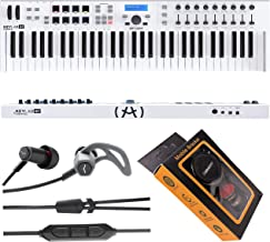 $249 » Arturia KeyLab Essential 61 61-Note MIDI Controller Keyboard with 8 Performance Pads, MIDI/USB Connectivity with V-Moda Fo...