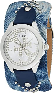 Guess Womens Quartz Watch, Analog Display and Leather Strap W1141L1
