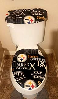 Pittsburgh Steelers Super Bowl Edition Fleece Fabric Toilet Seat Cover Set (2pc)