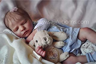 Reborn Baby Quinn Vinyl Baby Doll from Bountiful Baby Reborn Kit and Handmade by Seji Reborns 20 inch Newborn Size with Clothes and Box Opening Accessories