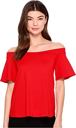 Piper Off Shoulder Flutter Top