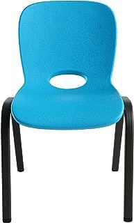 Lifetime 80472 Kids Stacking Chair (4 Pack), Glacier Blue