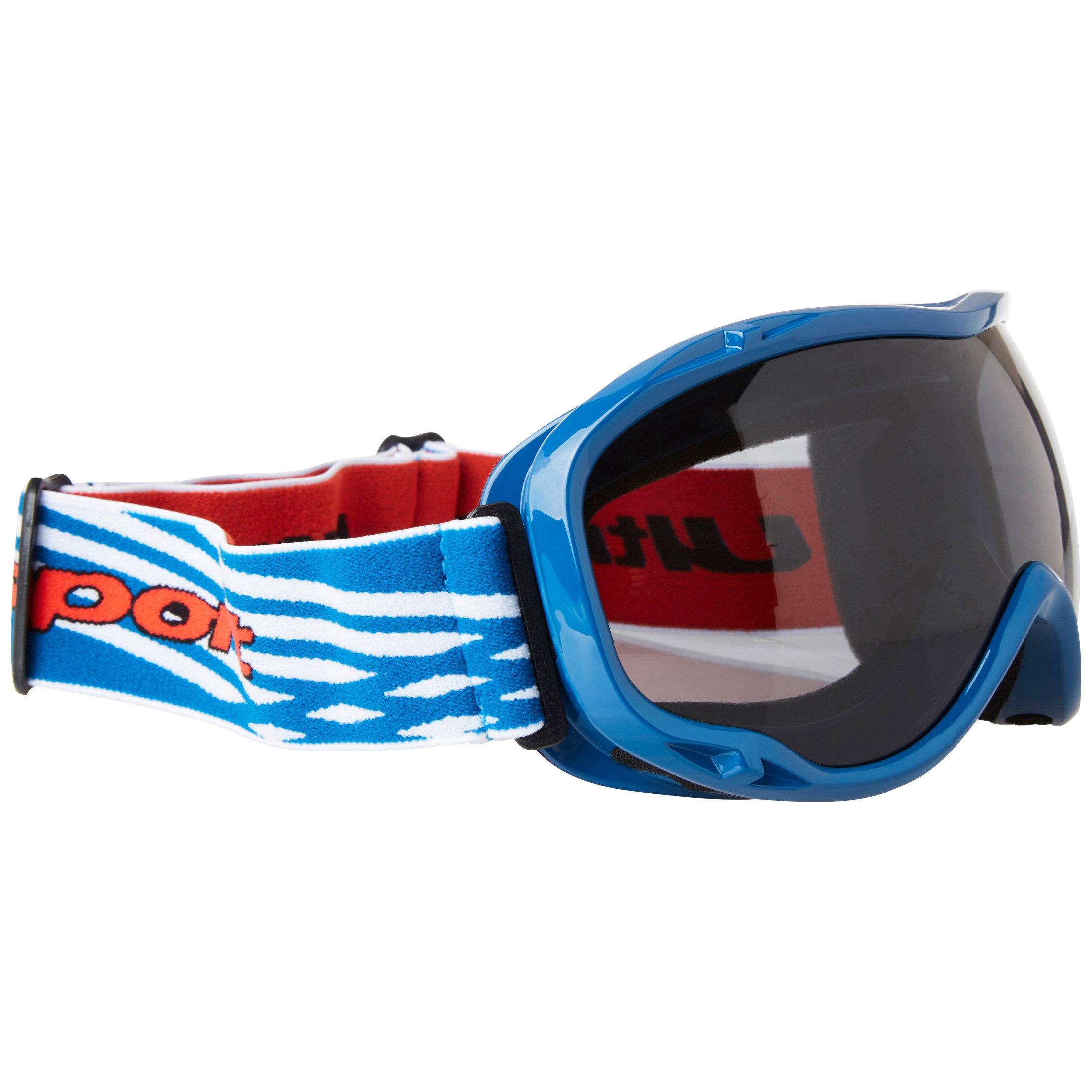 Ultrasport Skibrille / Snowboardbrille mit Antibeschlag-Scheibe, blau-weiß/grau