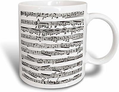 InspirationzStore音楽アートデザイン–Musical Notes–シート音楽–ピアノ表記–ブラックandホワイト–マグカップ 15 oz ホワイト mug_203236_2