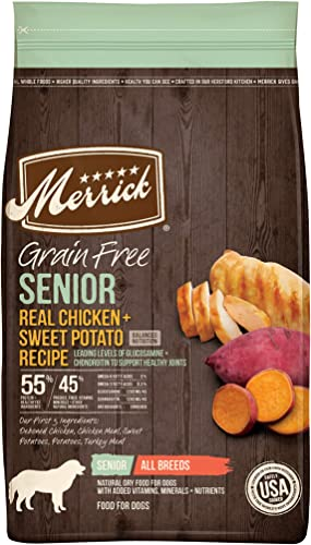 popular Merrick Senior Dry sale Dog Food with 2021 Real Meat sale