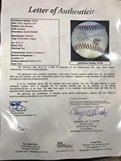 Gary Sanchez Signed Game Used Ball 1st Game 2016 Rookie Year ! 1/1 Sanchez - JSA Certified - MLB Autographed Game Used Baseballs