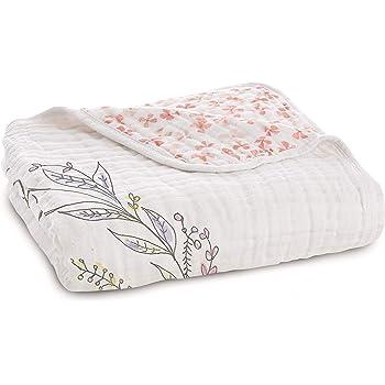 aden + anais Dream Blanket   Boutique Muslin Baby Blankets for Girls & Boys   Ideal Lightweight Newborn Nursery & Crib Blanket   Unisex Toddler & Infant Bedding, Shower & Registry Gift, birdsong