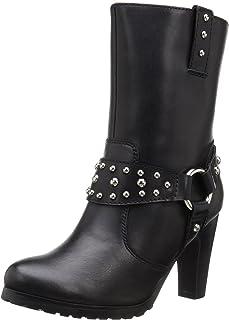 """AdTec Women's 10"""" Harness Biker Boot Black Work Boot"""