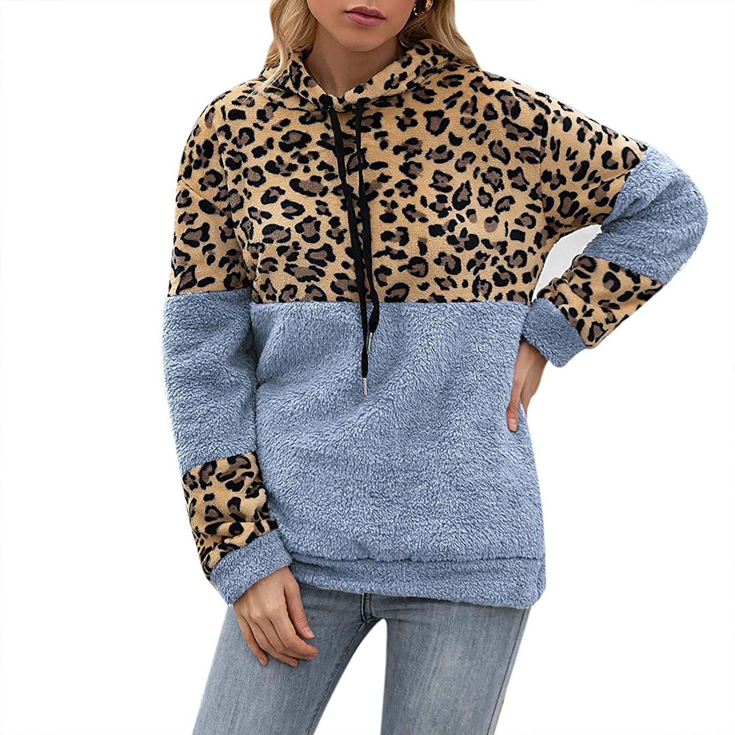 40% Special price for a limited time OFF Cheap Sale Casual Hooded Pullover Top for Print Hoodi Leopard Women-Vintage